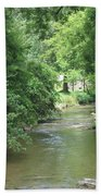 Peaceful Mountain Stream Beach Towel