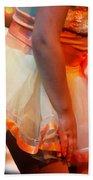 Peach Tutu Beach Towel