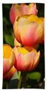 Peachy Tulips Beach Towel