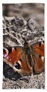 Peacock Butterfly Beach Towel