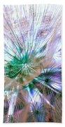 Peacock Dandelion - Macro Photography Beach Towel