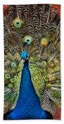 Peacock Tails Beach Towel