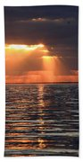 Peaking Through The Clouds Beach Towel