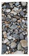 Pebble Beach Rocks, Maine Beach Towel