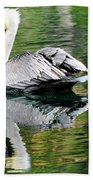 Pelican Reflecting Beach Towel