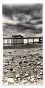 Penarth Pier Cream Beach Towel