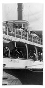 People Fleeing Galveston After Flood - September 1900 Beach Towel
