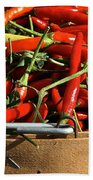 Peppers And More Peppers Beach Towel by Susan Herber