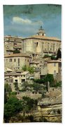 Perched Village Of Gordes Beach Towel