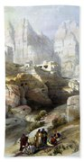 Petra March 10th 1839 Beach Towel