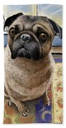 Hungry Pug Beach Towel