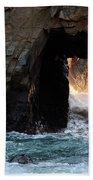 Pfeiffer Rock Big Sur Beach Towel by Bob Christopher
