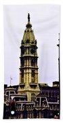 Philadelphia City Hall Tower Beach Towel