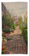 Philadelphia Courtyard - Symphony Of Springtime Gardens Beach Towel by Mother Nature