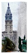 Philadelphia Fountain Beach Towel