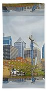 Philadelphia Skyline - Mirror Box Beach Towel