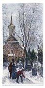 Philadelphia: Winter, 1873 Beach Towel
