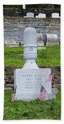 Phillies Harry Kalas' Grave Beach Towel