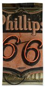 Phillips 66 Vintage Sign Beach Towel