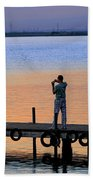 Photographing The Sunset Beach Towel