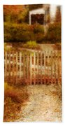 Picket Fence And Cottage Beach Towel