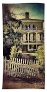 Picket Gate To Large House Beach Towel