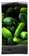 Pickling Cucumbers Beach Towel by Ms Judi