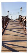 Pier On Costa Del Sol In Marbella Beach Sheet