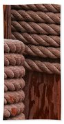 Pier Ropes II Beach Towel
