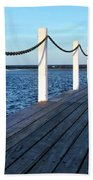 Pier To The Ocean Beach Towel