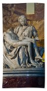 Pieta By Michelangelo Circa 1499 Ad Beach Towel
