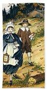 Pilgrim Schoolchildren Beach Towel