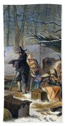 Pilgrims: First Winter, 1620 Beach Towel