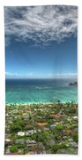 Pillbox View Of Mokulas Beach Towel