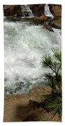Pine And Falls Glen Alpine Falls Beach Towel