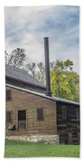 Pine Creek Grist Mill At Fall Beach Towel