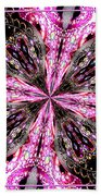 Pink And Purple Gemstones Jewelry Kaleidoscope Beach Towel