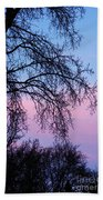 Pink Blue Sky Beach Towel