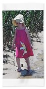 Pink Dress Beach Towel