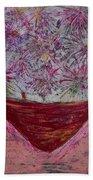 Pink Explosion Beach Towel