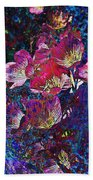 Pink Floral Abstract Beach Towel