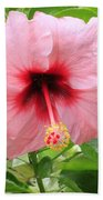 Pink Hibiscus V2 Beach Towel