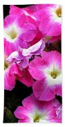 Pink Petunias Beach Towel