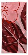 Pink Poster Floral Beach Towel