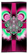 Pink Ribbons And Bow Fractal 75 Beach Towel