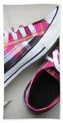 Pink Sneakers Beach Towel