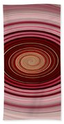 Pink Vortex Beach Towel