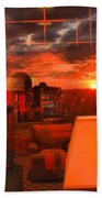 Pipestem Sunset Beach Towel