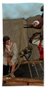 Pirates Of Peril Beach Towel by DigiArt Diaries by Vicky B Fuller