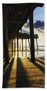 Pismo Pier Sunset II Beach Towel